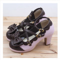 New Summer fashion latest sexy lady pumps women shoes High Heel Party Shoes Sweet Bowtie Round Toe Buckle Lolita Shoes Platform