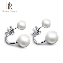 Bague Ringen 2019 Pearl Earrings Stud For Women Silver Jewelry Earring Fashion Party Gifts Wholesale