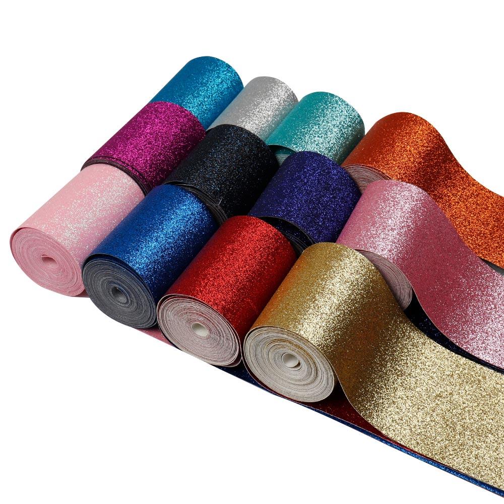 50y lot 3 75mm Fine Glitter Ribbon Solid Shiny Glitter Ribbon Wholesale Ribbon DIY Hair Bow