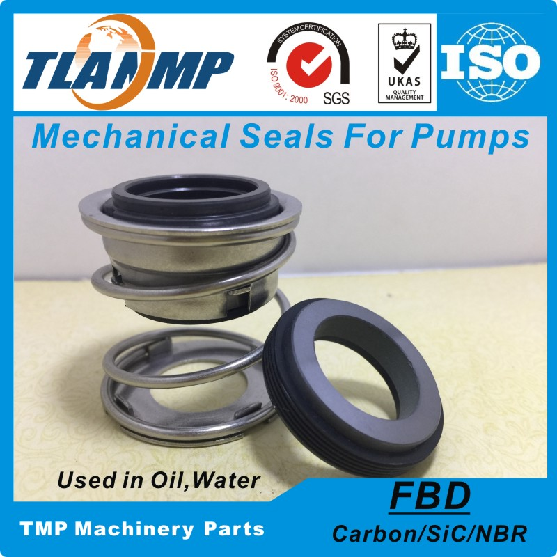 FBD 45mm (Shaft size=45mm) Rubber Bellow Mechanical Seals Used in Oil Water Corrosive medium (Material:Carbon/SiC/NBR)| | |  - title=