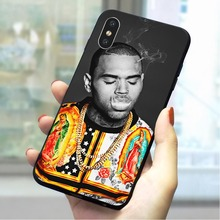Chris Brown Soft TPU Cover for iPhone Xs Max Fashion Phone Case for iPhone XR 5 5s se 6 6s plus 7 8 X Xs Max Covers black cover japanese samurai for iphone x xr xs max for iphone 8 7 6 6s plus 5s 5 se super bright glossy phone case
