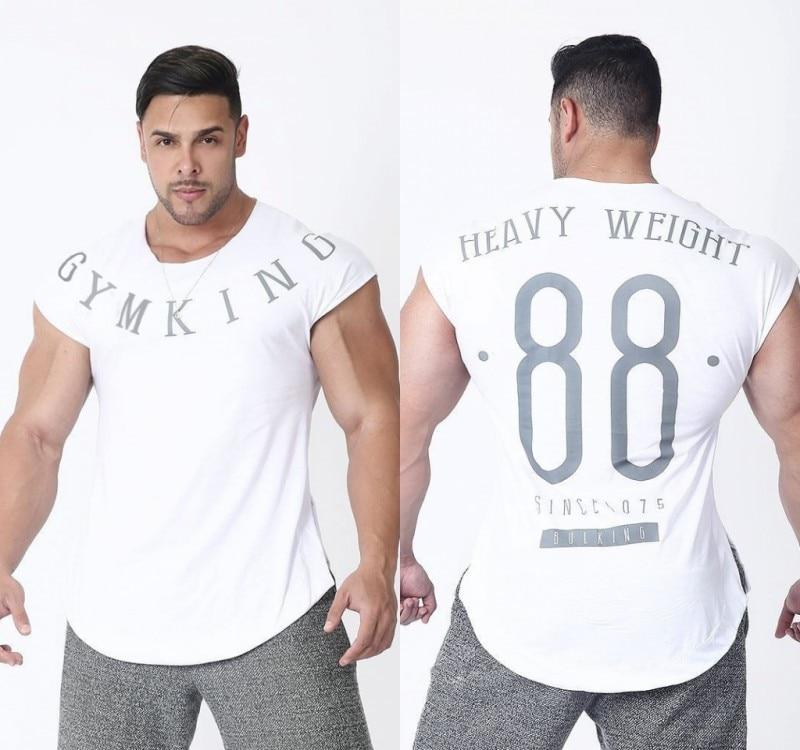 Mens Summer Run Jogging Sports Cotton T-shirt Man Gym Fitness Bodybuilding t shirt Male Workout Training Tee Tops Brand Clothing 5