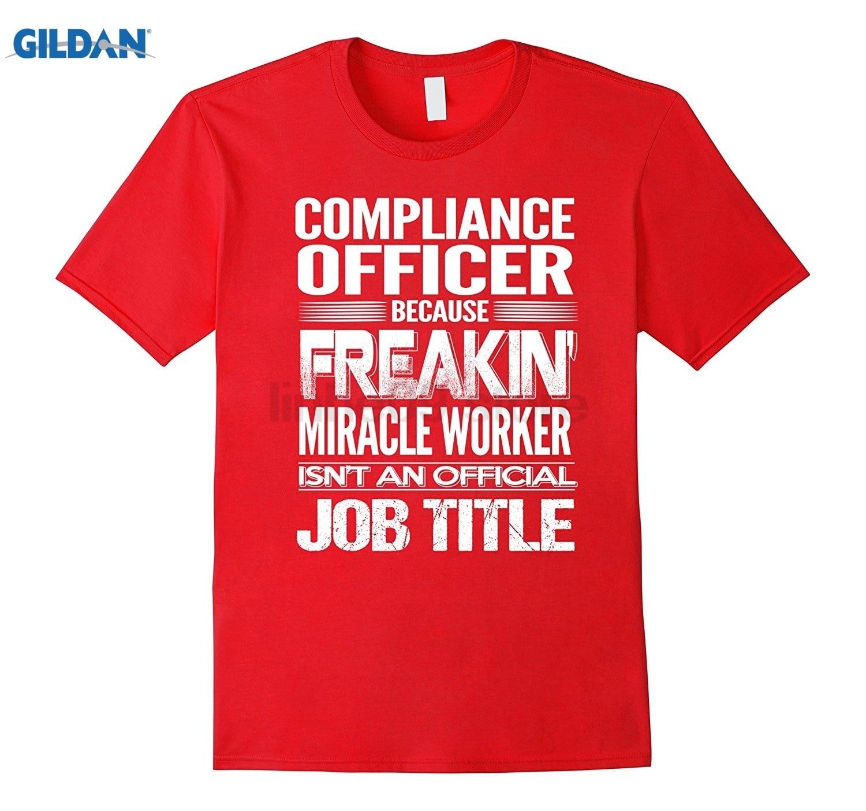 GILDAN COMPLIANCE OFFICER - Freakin Miracle Worker Job Title Shirts Womens T-shirt
