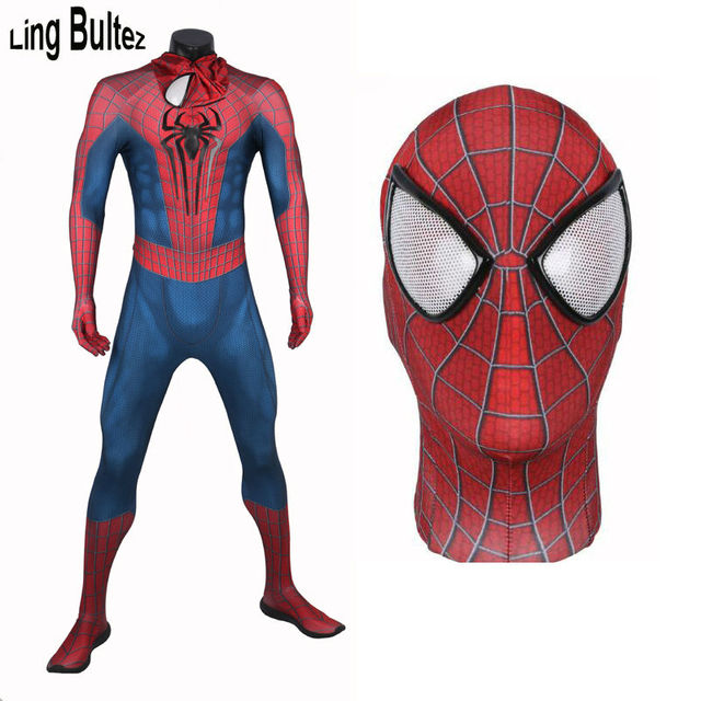 Ling Bultez High Quality Muscle Shade Amazing Spiderman Costume Newest 3D Logo Spiderman Suit 3D Print  sc 1 st  AliExpress.com & Ling Bultez High Quality Muscle Shade Amazing Spiderman Costume ...