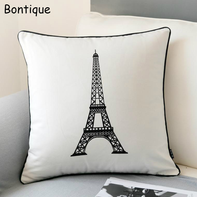 Decorative Pillows Eiffel Tower : Aliexpress.com : Buy Modern Fashion Paris Eiffel Tower Decorative Cushion Cover Throw Pillow ...
