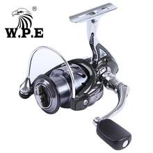 цена WPE Steel Man 5.1:1 Fishing Reel 2000-6000 10+1 Ball Bearings Max Deag 8KG Auto-foldable Handle Carp Spinning Fishing Reel