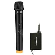 Professionnel siyah altın kablosuz el mikrofonu amplifikatörlü aile Karaoke KTV şarkı iş toplantısı konuşmaları