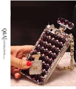 Image 5 - Hot Anna Bling Kristallen Parfumflesje Cases Voor Iphone 12 Mini Xs 11 Pro Max Xr Xs X 6 6S 8 7 Plus Se 2020 Samsung Note 10 Plus