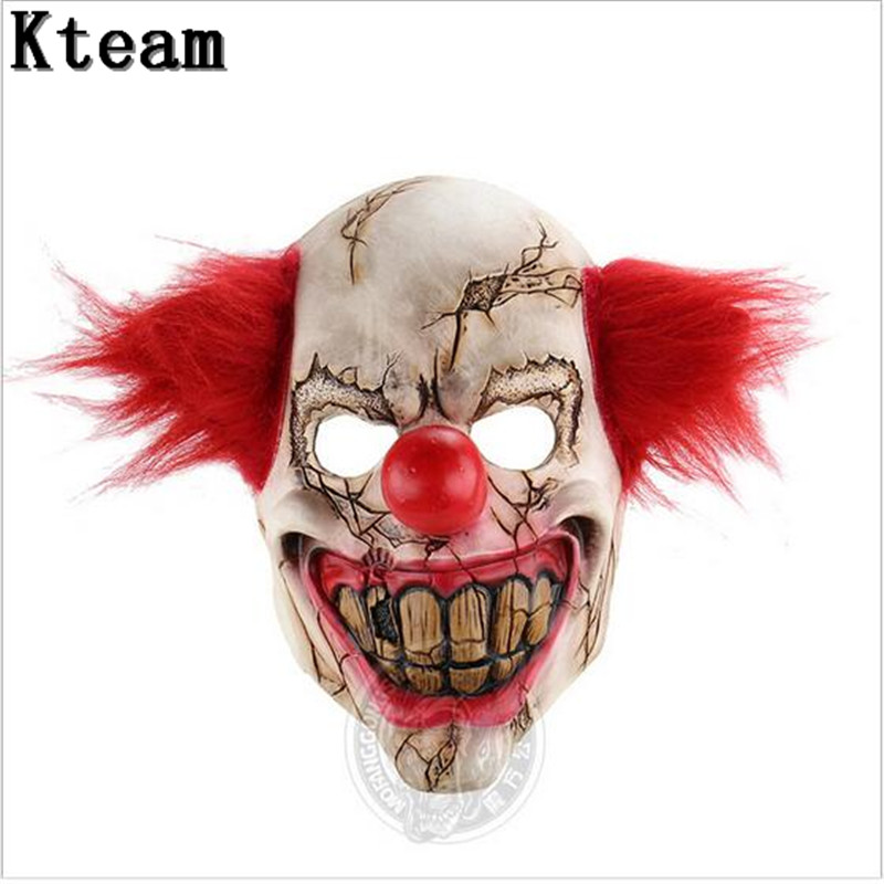 2017 New Funny Halloween Party Cosplay Scary Joker Mask Movie Full Face Horror Costume Mask Clown Mask Theater Prop toys image
