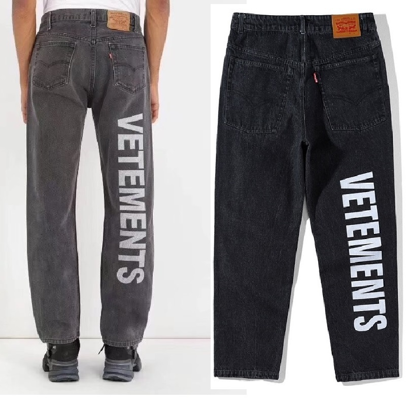 Vetements Jeans Men Women Make Streetwear Clothes Old Broken Skinny Jean Ripped Jeans For Men Homme Brand Pants Vetements Jeans