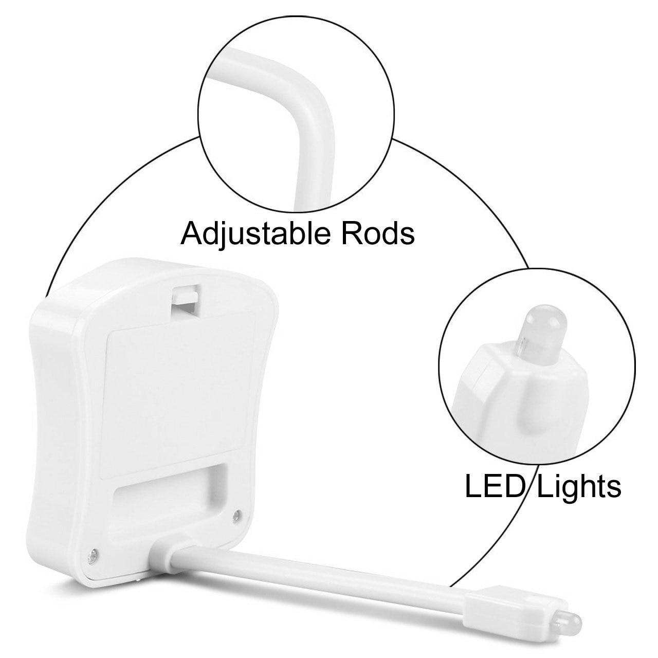 Viedā PIR kustības sensora tualetes sēdeklis nakts apgaismojums 8 - Nakts gaismas - Foto 5
