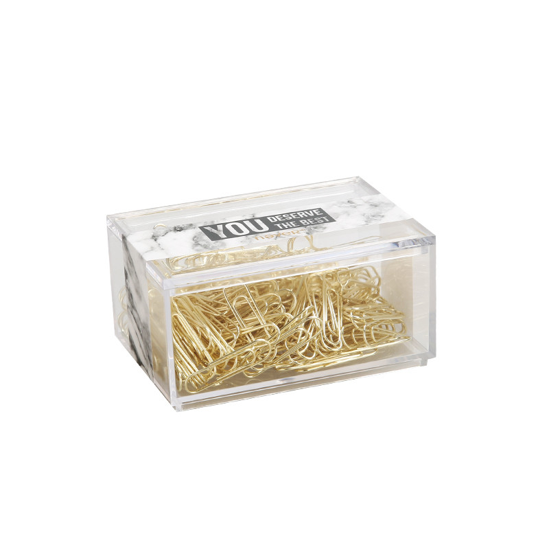 200pcs 28mm Clips Full Metal Gold Color U Type Paper Clip The Office & School Supplies Material Escolar Stationery Free Shipping