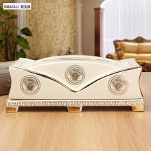 10″ Tissue box European ceramic removable tissue boxes Living room decoration