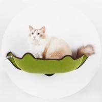 Cute Pet Hanging Beds Cat Sunny Seat Window Mount Pet Cat Hammock Comfortable Cat Pet Bed Long Plush Soft Pet bed Bearing 10kg