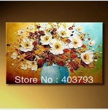 hot saling Free shipping100% handpainted  Modern Abstract Huge Wall Art Oil Painting On Canvas flower