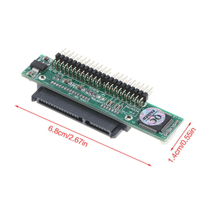 """Image 2 - 2.5 Inch HDD SSD Serial ATA 7+15P Female to 44 Pin Male PATA IDE Port Adapter Card 2.5"""" SATA to IDE Converter for Laptop Drive"""