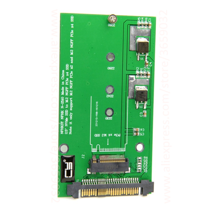 SFF-8639 NVME U.2 to NGFF M.2 M-key PCIe SSD Adapter for Mainboard Replace Intel SSD 750 p3600 p3700 ssd add on cards 2 5 enclosure adapter u 2 sff 8639 to m 2 pci e i f with cable ngff convert card