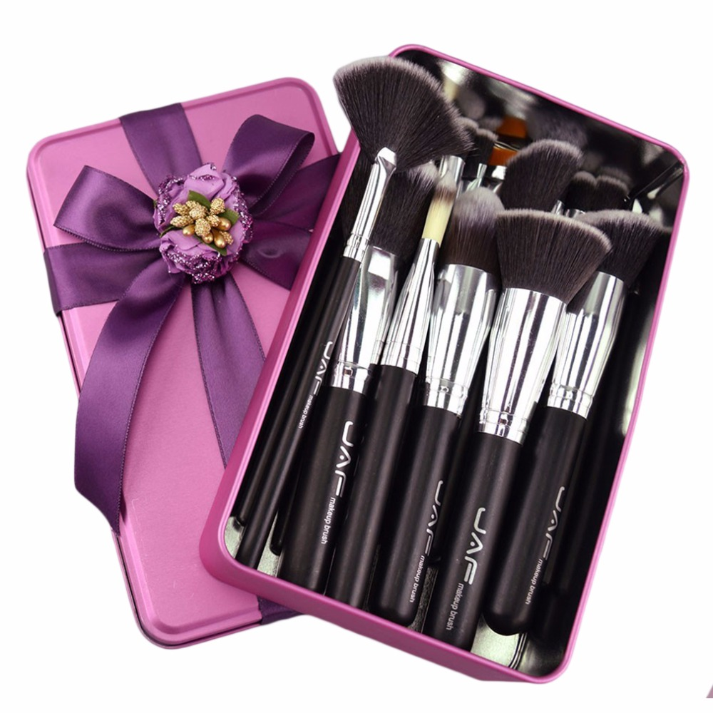 все цены на JAF Brand Professional Makeup Brushes Set Kit Lip Powder Foundation Blusher Eye shadow Eyelashes Concealer Brush Make up Tool онлайн