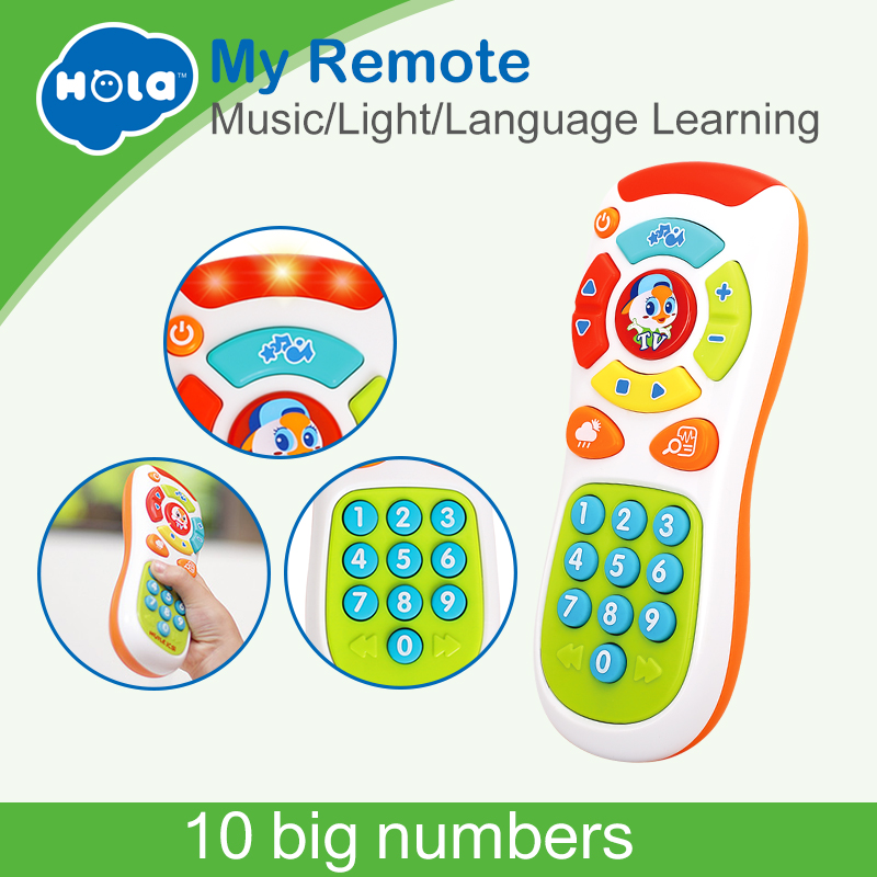 HOLA 3113 Toddler Learning Click and Count Remote with Music & Light Electronic Learning & Education Toy Online Exclusive HOLA 3113 Toddler Learning Click and Count Remote with Music & Light Electronic Learning & Education Toy Online Exclusive
