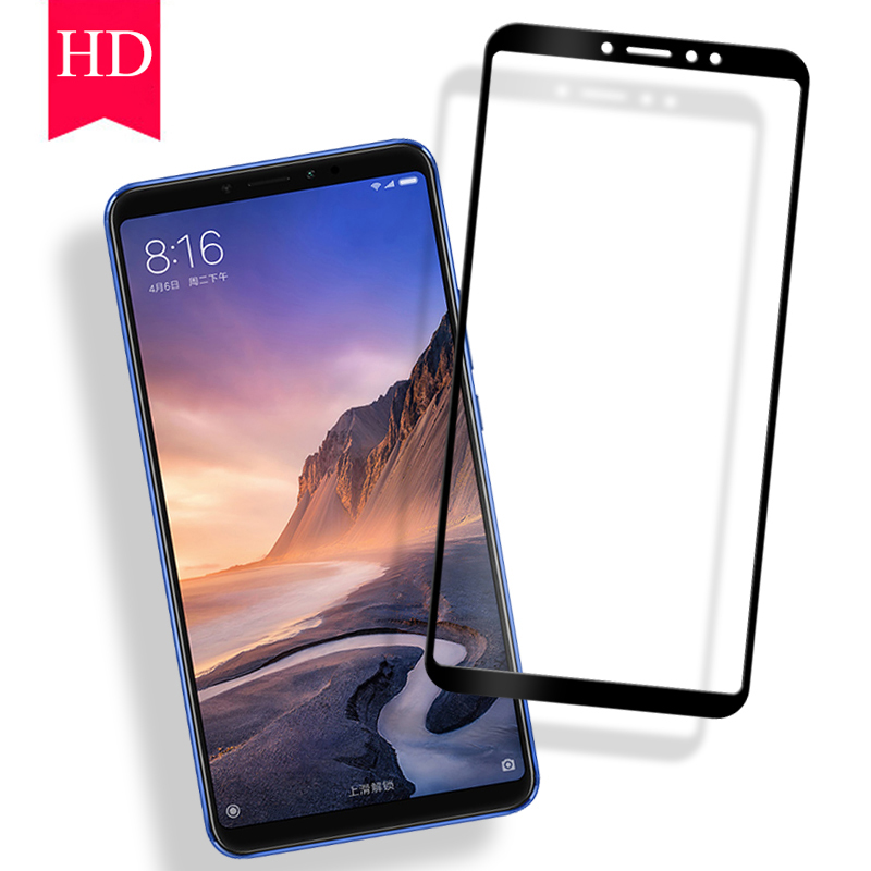 Xiaomi Mi Max 3 Screen Protector Tempered Glass Xiaomi Mi Mix 3 Full Coverage Protective Glass Xiaomi Mi Mix 2 2S Film 2.5D