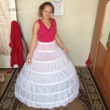 New 6 Hoops Petticoats Bustle for Ball Gown Wedding Dresses Underskirt Bridal Accessories Crinolines