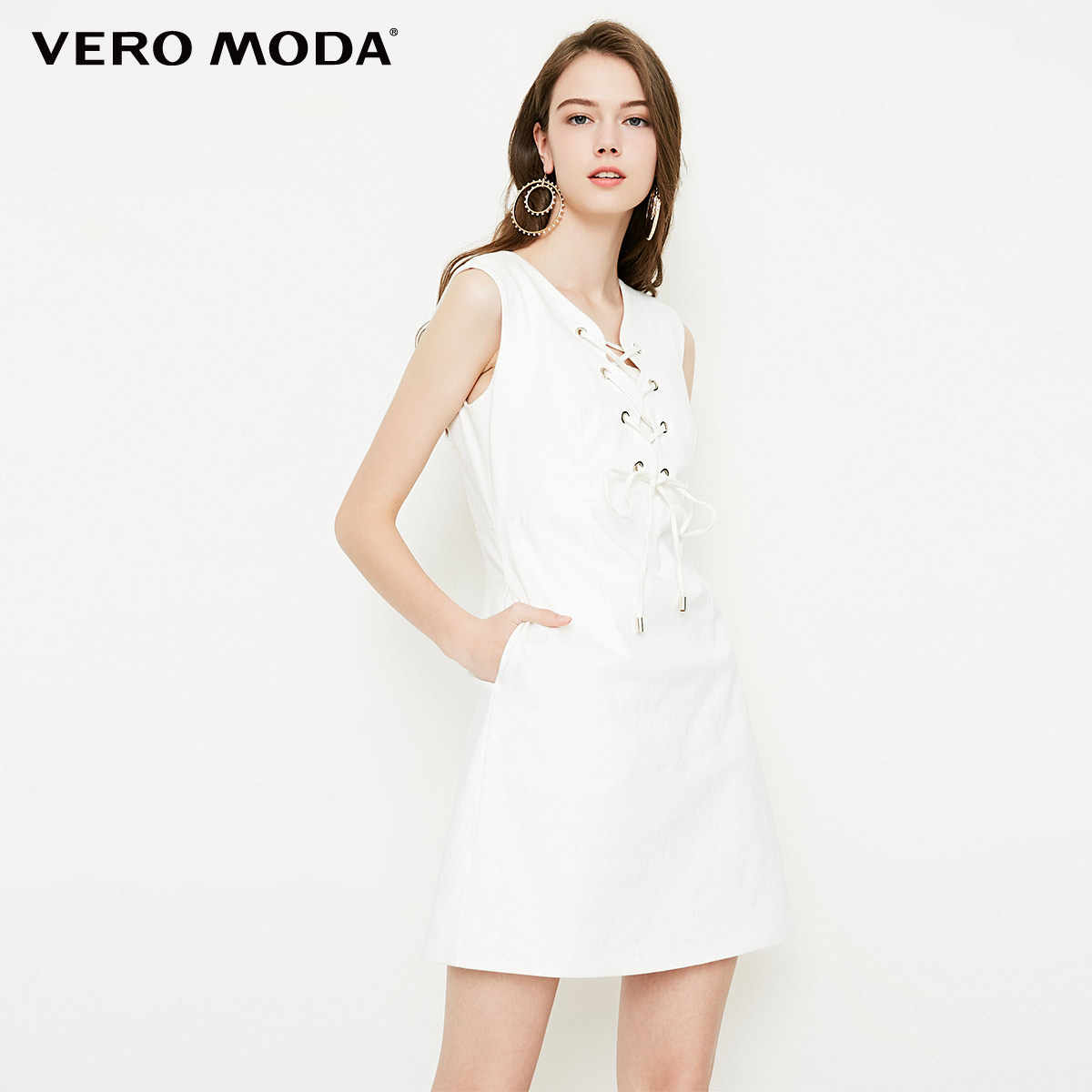 Vero Moda 2019 новое платье без бретелек без рукавов из джинсовой ткани | 318242507