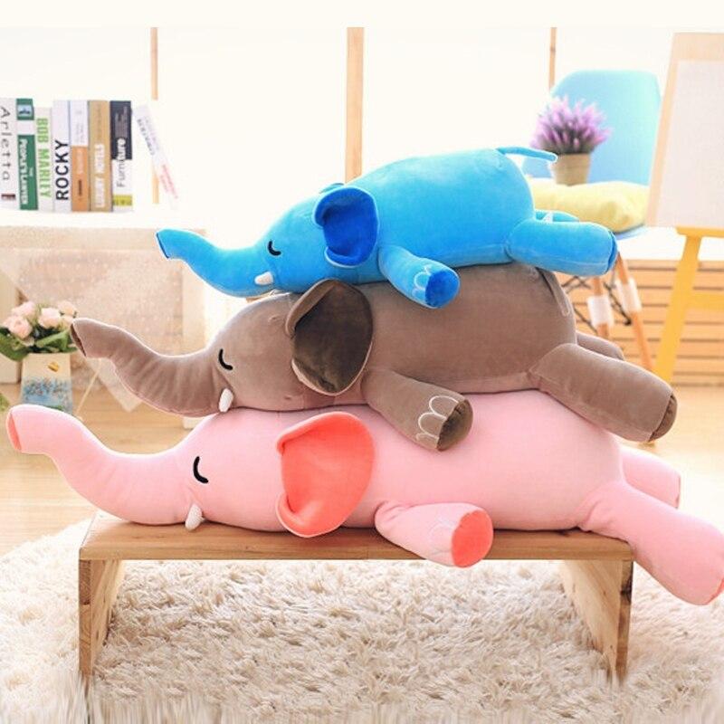 Fancytrader 100cm Big Plush Soft Animal Elephant Toy Sleeping Pillow Stuffed Giant Cartoon Elephant Doll Kids Present 39'' fancytrader giant plush blue whale toy big stuffed soft sea animals whale pillow doll kids best gifts