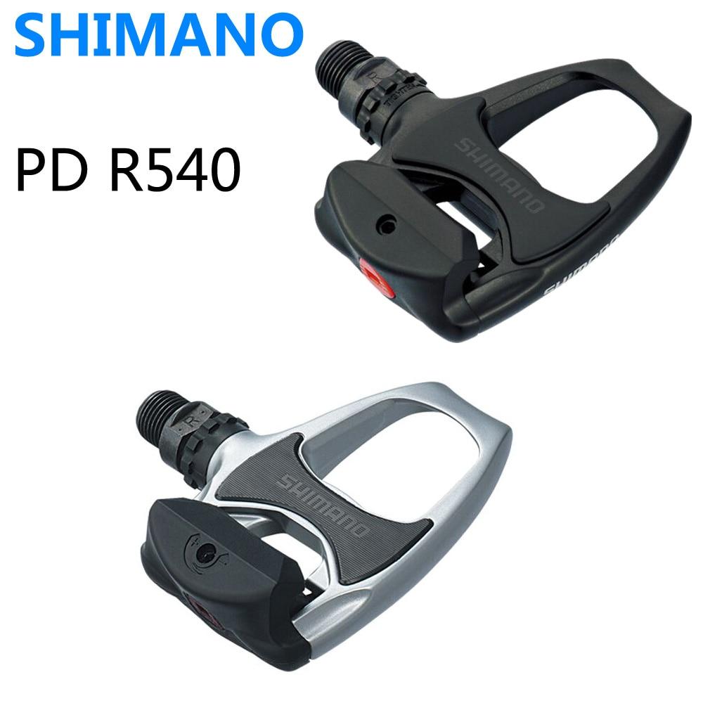 Shimano PD R540 pedales autobloqueantes SPD ciclismo Road Bike pedales PD-R540 componentes utilizando para carreras de bicicletas tacos piezas