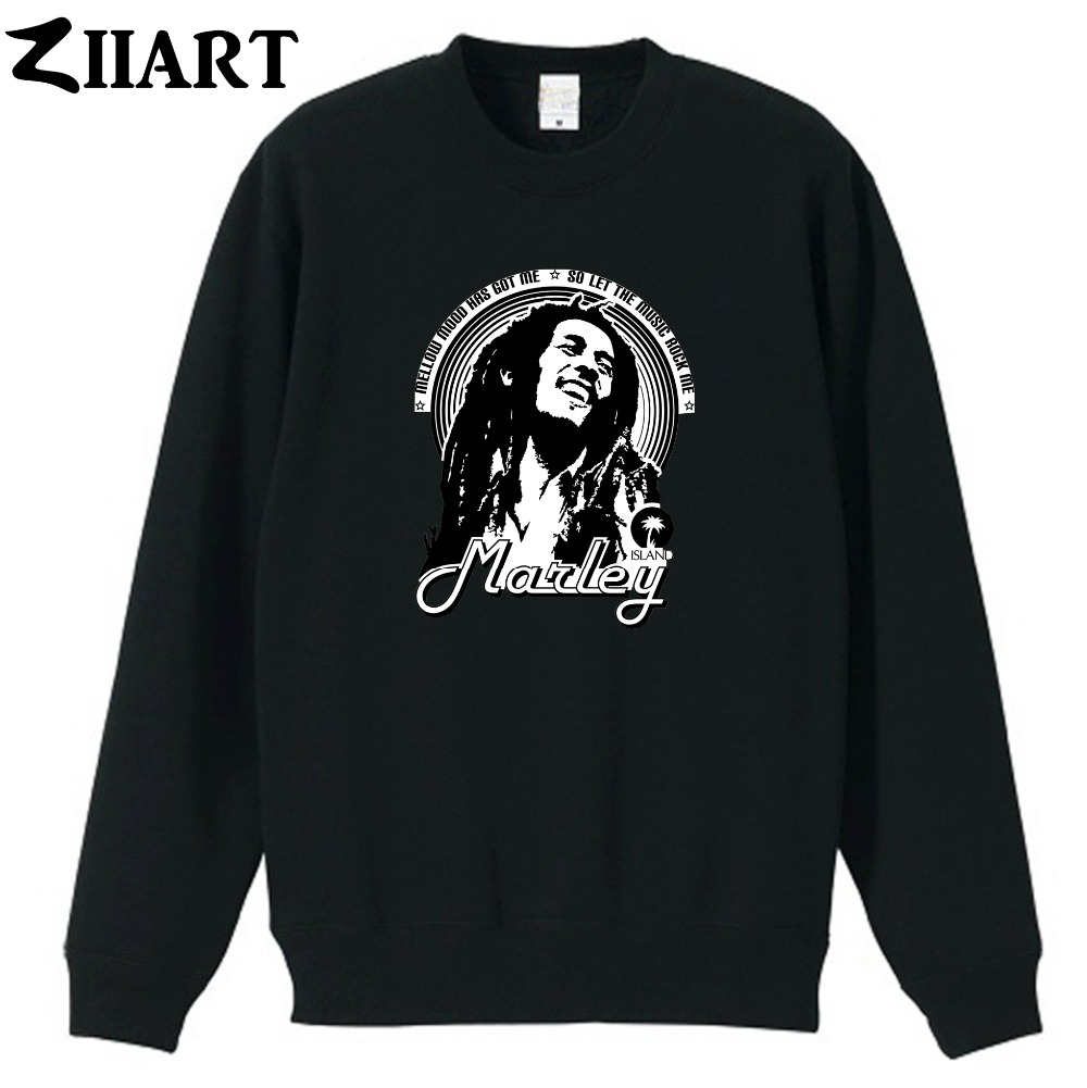Reggae Jamaican Bob Marley mellow mood has got me so let the music rock me couple clothes girls woman winter fleece Sweatshirt
