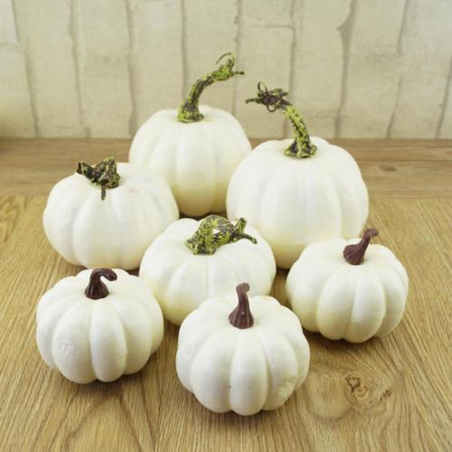 6X  pieces Artificial Pumpkin Foam Festival Halloween Party Garden Decor Ornament Craft6X  pieces Artificial Pumpkin Foam Festival Halloween Party Garden Decor Ornament Craft