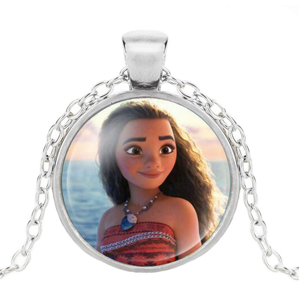 Новая мода популярное женское ожерелье Кристалл ювелирные изделия выпуклая круглая Принцесса Подвеска Ожерелье Девушка - Окраска металла: 4