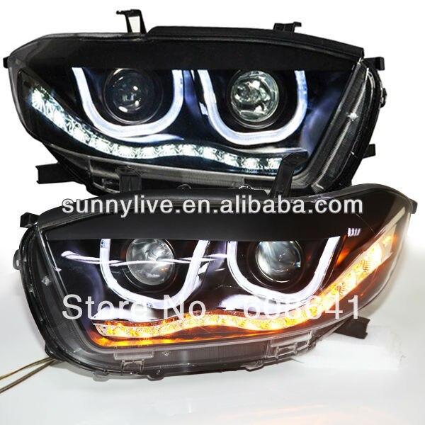 Highlander LED světlomet Angel Eyes U Type TLZ V4 LED 2 Color