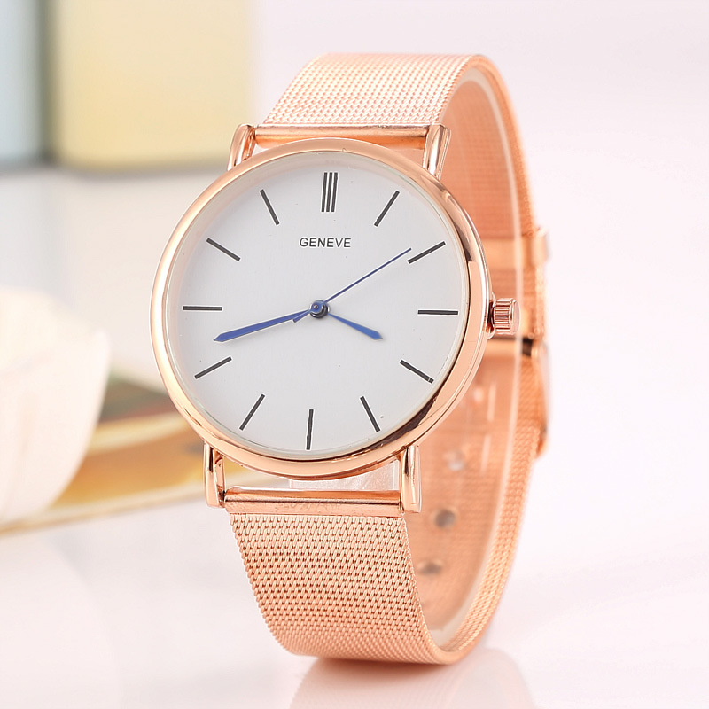 Fashion women 39 s steel belt mesh belt ultra thin watch personality casual quartz watch No waterproof Quartz Fashion amp Casual in Women 39 s Watches from Watches