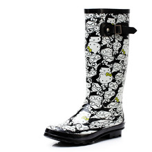 Women's fashion cartoon ladies waterproof rain boots water shoes SUB1254