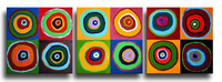 3 Panel Pictures Handpainted Colorful Abstract Oil Painting on Canvas Graffiti Circles Acrylic Paintings Modern Home Wall Art