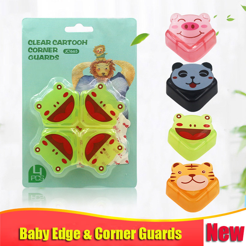 4 Pcs/lot New Baby Cartoon Tiger Corner &edge Guards Cute Table Edge Safety Protection Cover Children Anticollision Protector Safety Equipment