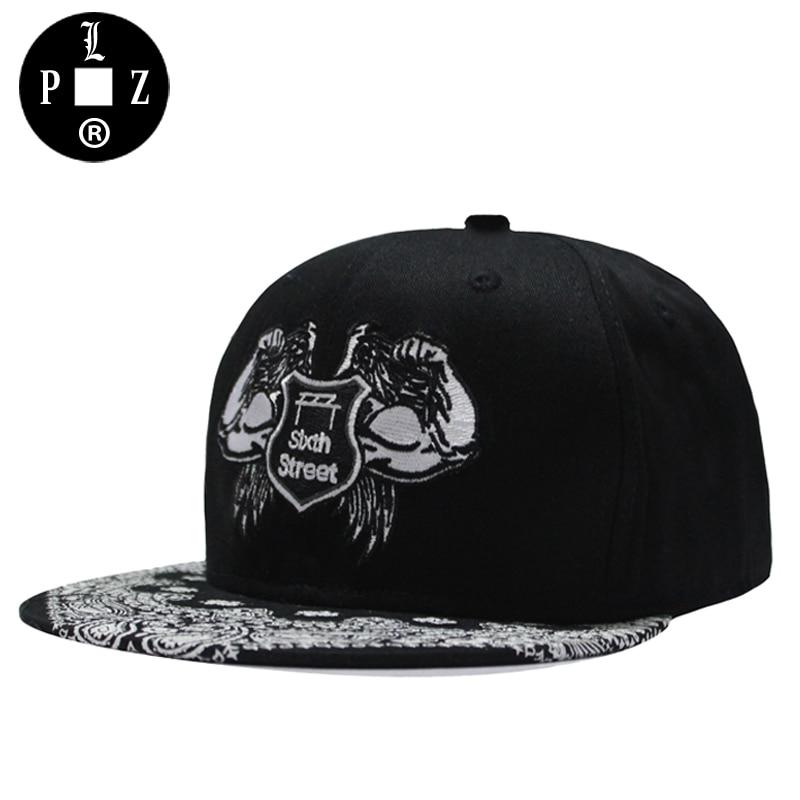 Prix pour PLZ De Marque Snapback casquettes de baseball Hommes HipHop Rue De La Mode D'entraînement Chapeaux Muscle Brodé De Cajou fleurs Imprimer chapeaux pour Hommes