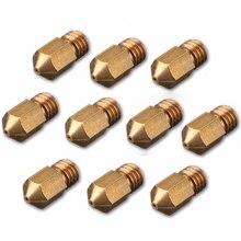 10x0,3mm 3D Drucker Messing Düse Kopf Für 1,75mm M6 Gewinde Filament RepRap