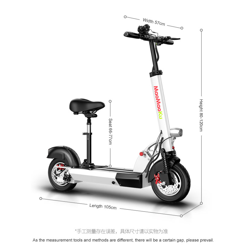 HTB1ZciVgfJNTKJjSspoq6A6mpXam - 10inch electric scooter 48V lithium battery electric bicycle 500w high speed 100km range sctooer  max speed 45-50km/h
