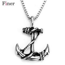 Anchor Pendant European and American Domineering Retro Pirate Titanium Steel Pendant Personality Jewelry Customized s925 anchor pendant silver pendant chain retro punk pirate men