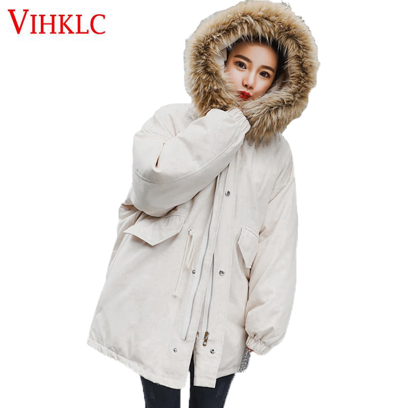 Parkas Jackets & Coats United Anti-season Treatment Cotton Parka Winter Women 2018 New Chic Korean Version Loose Long Coat Large Fur Collar Tool Female Z305 Grade Products According To Quality