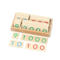 Montessori Learning Education Math Toys Small Digital Wooden Cards With Box (Nmuber 1 9000) Early Learning Toys B1366T