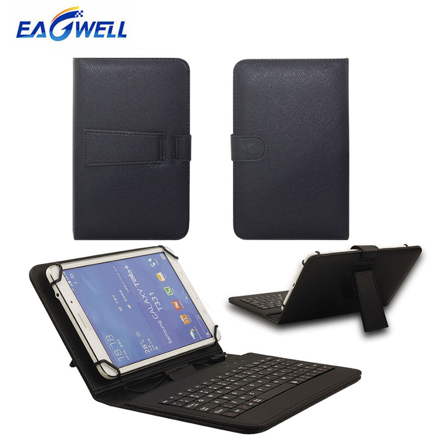 US $7 67 Universal Micro USB Keyboard Leather Case Cover For