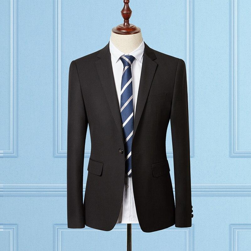Мужской черный пиджак, пиджак, деловой Свадебный мужской костюм, пиджак 2019, новый тонкий дизайн, мужской деловой костюм, пальто, Азиатский ра...