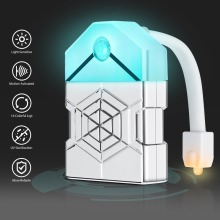 цена на Motion Sensor LED Toilet Light 16 Color Backlight For Toilet Bowl Bathroom Night Light Human Motion Activated Seat Sensor Lamp