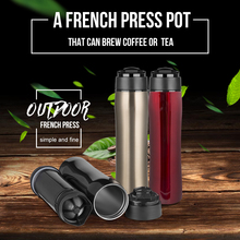 350ml Outdoor 2nd- Gen French press pot / glass insulation cup coffee tea french presses percolators coffee maker Metal filter