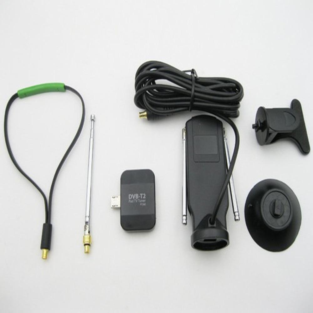 Récepteur de télévision numérique DVB-T2 Micro Tuner USB pour téléphone Android ou Pad avec OTG DVB T2 DVB-T PAD HD TV Stick avec double antenne