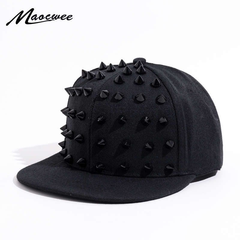 Unisex Punk Hedgehog Hat Personality Jazz Snapback Spike Studded Rivet  Spiky Baseball Cap for Hip Hop Rock Dance Bons Dad hats 311dbc19686