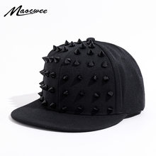 7337a6fcaa8b6 Unisex Punk Hedgehog Hat Personality Jazz Snapback Spike Studded Rivet  Spiky Baseball Cap for Hip Hop