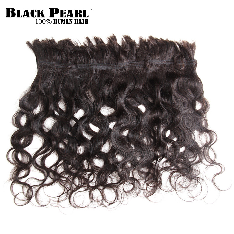 Black Pearl Pre-colored Deep Wave Brazilian Hair Bulk Braiding Hair Extensions 1 Bundle Remy Human Hair Bundles Braids Hair Deal Human Hair Weaves